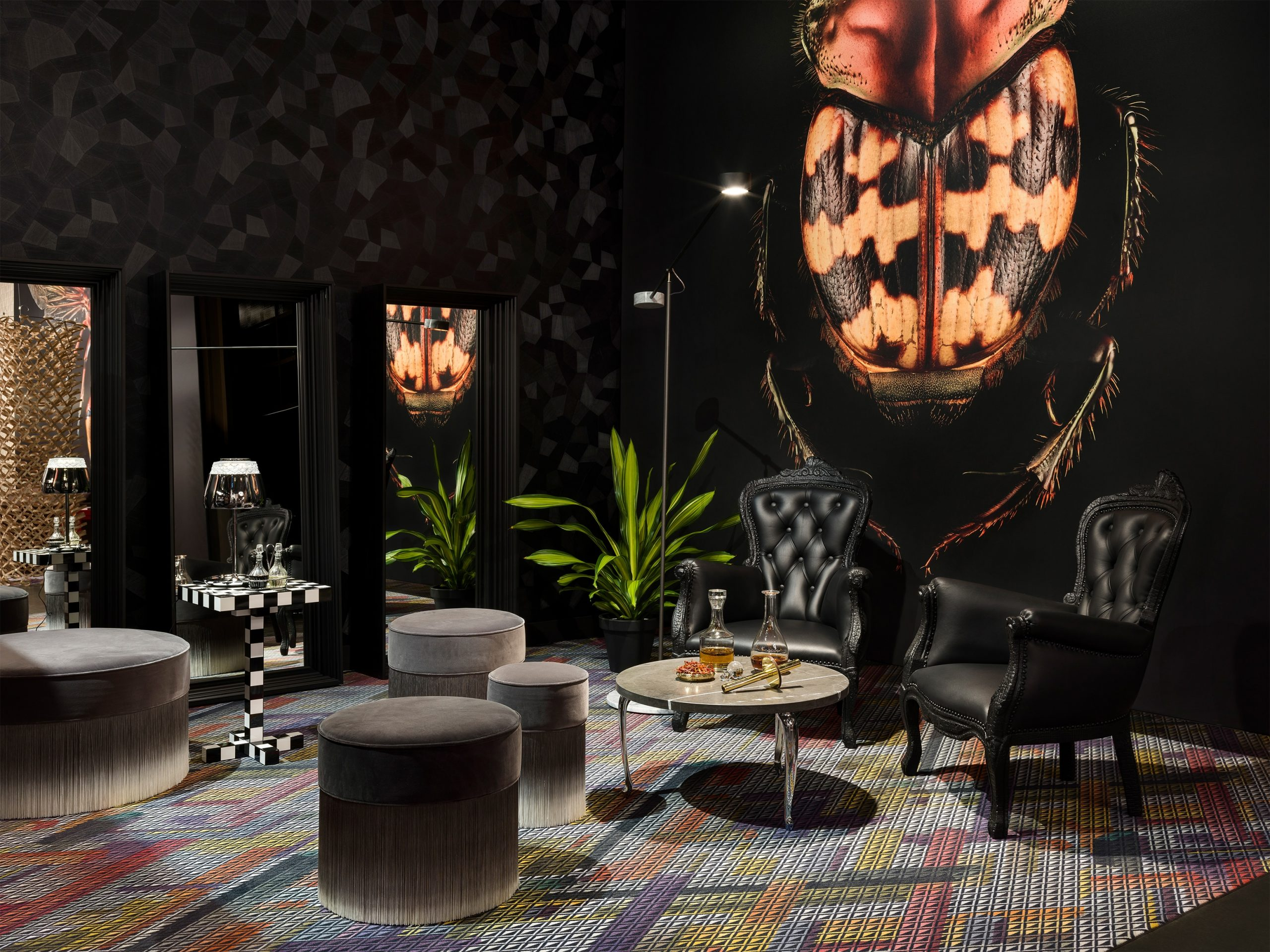 moooi - Smoke Chair, Amami Pouf & Chess Table