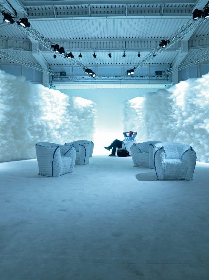 Moroso Panna Chair, Sessel von Tokujin Yoshioka, 2008